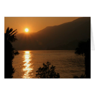 sunset ~ lake como note card