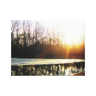 Sunset Lake Gallery Wrapped Canvas