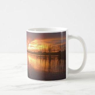 Sunset Lake Coffee Mugs