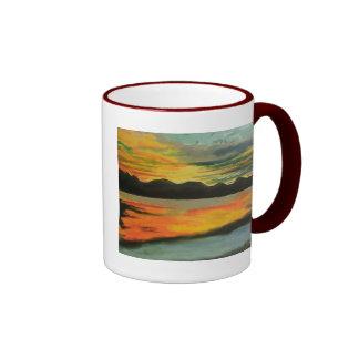Sunset Lake Ringer Mug