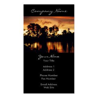 Sunset Lake Photo Business Card Templates