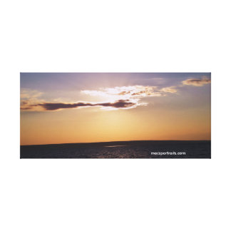 Sunset Lake Superior Stretched Canvas Prints