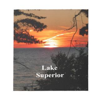 Sunset Lake Superior Notepad