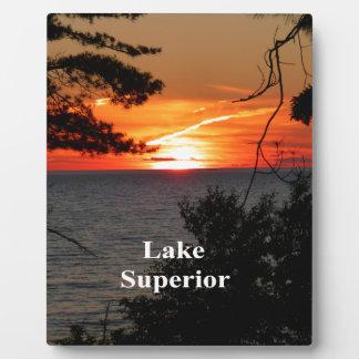 Sunset Lake Superior Plaque