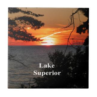 Sunset Lake Superior Tile