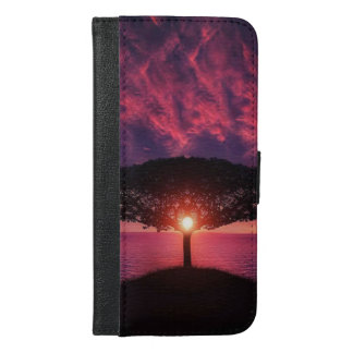 sunset lake view iPhone 6/6s Plus Wallet Case