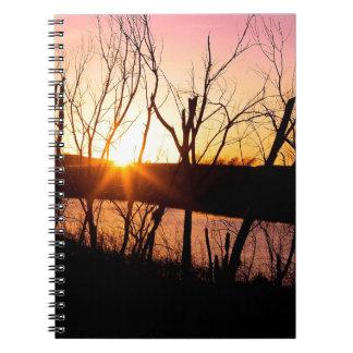 Sunset Lake Wilson Kansas Note Books