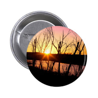 Sunset Lake Wilson Kansas Pinback Button