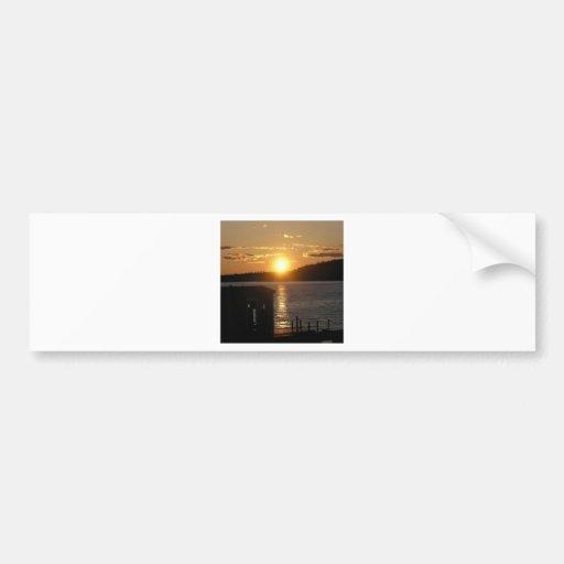 Sunset Lakeside Bumper Stickers
