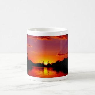 Sunset Landscape Basic White Mug