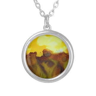 Sunset landscape custom jewelry