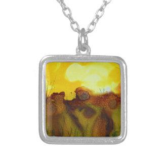 Sunset landscape necklaces