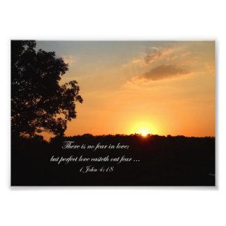 Sunset Landscape Photograph with Inspirational Bib