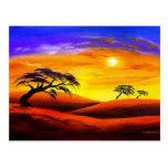 Sunset Landscape Scenery - Multi Postcard