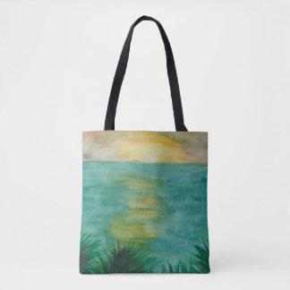 Sunset Landscape Tote Bag
