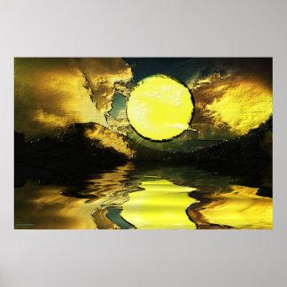 Sunset-landscape-Ver.13 Poster