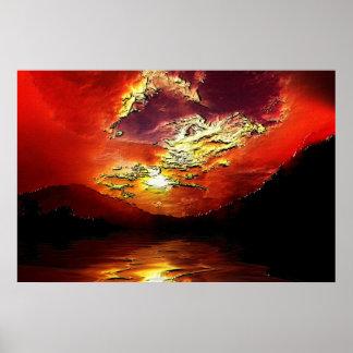 Sunset-landscape-Ver.16 Poster