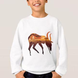 Sunset Landscape with Antelopes 2 Sweatshirt