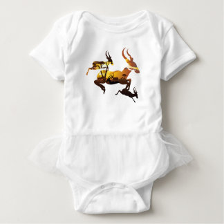 Sunset Landscape with Antelopes 3 Baby Bodysuit