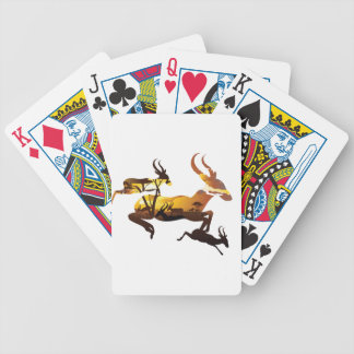 Sunset Landscape with Antelopes 3 Bicycle Playing Cards