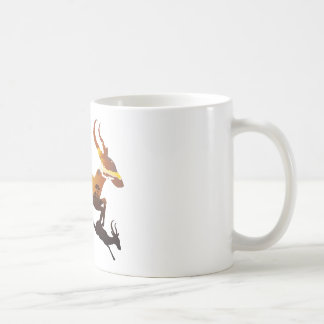 Sunset Landscape with Antelopes 3 Coffee Mug