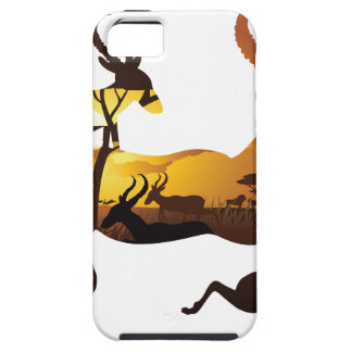 Sunset Landscape with Antelopes 3 Tough iPhone 5 Case