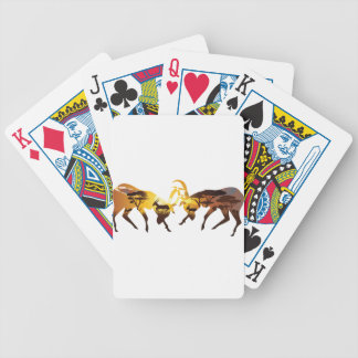 Sunset Landscape with Antelopes Bicycle Playing Cards
