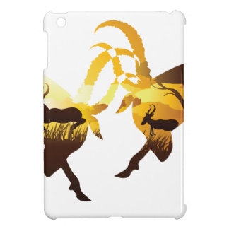 Sunset Landscape with Antelopes iPad Mini Cover