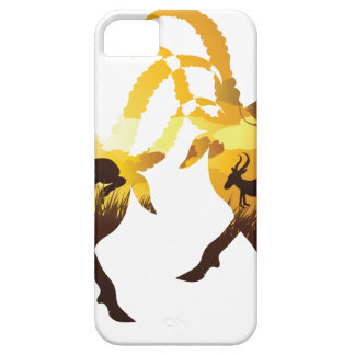 Sunset Landscape with Antelopes iPhone 5 Covers