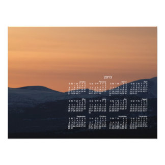 Sunset Layers 2013 Calendar Art Photo