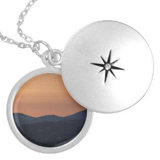 Sunset Layers Round Locket Necklace