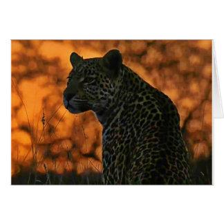 Sunset leopard card