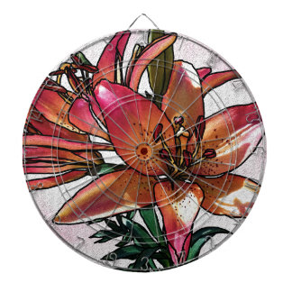 Sunset lily dartboard