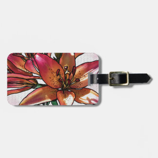 Sunset lily luggage tag