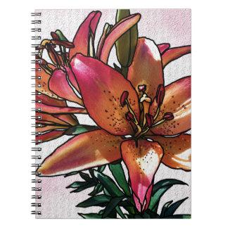Sunset lily notebooks