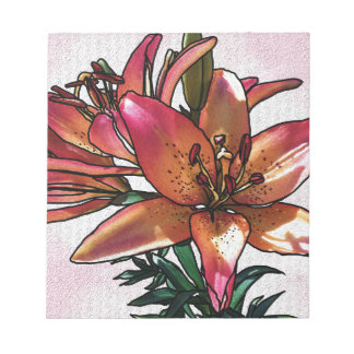 Sunset lily notepad