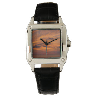 Sunset Lit Clouds Wristwatch