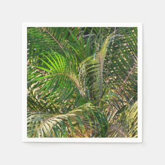Sunset Lit Palm Fronds Paper Serviettes