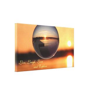 Sunset Live Love Laugh Explore Inspirational Canvas Print