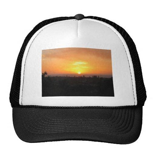 Sunset Looking Over Waterman Beach, Western Austra Mesh Hats