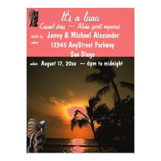 Sunset Luau Party 17 Cm X 22 Cm Invitation Card