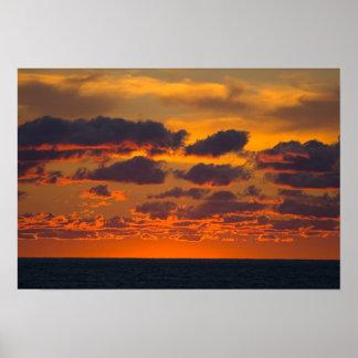 Sunset, Ludington, Michigan Poster