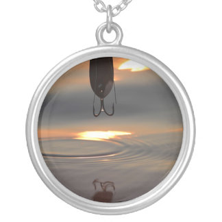 Sunset Lure Silver Plated Necklace