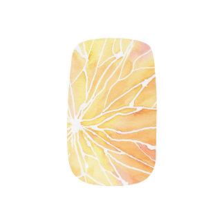 Sunset Marbled Break Minx Nail Art