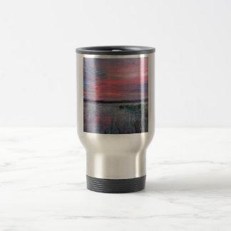 Sunset Marsh travel mug