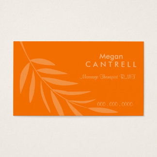 Sunset Massage Therapist Biz Card
