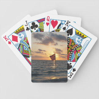 Sunset Memorial Bicycle Playing Cards