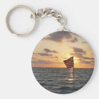 Sunset Memorial Key Ring