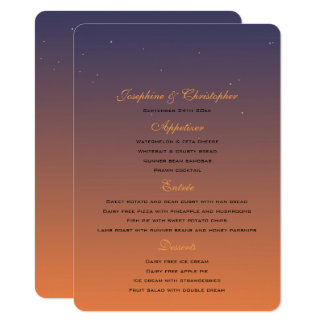 Sunset Menu Template Card