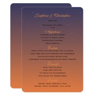 Sunset Menu Template Card